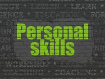 Learning concept: Personal Skills on wall background Stock Photography