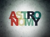 Learning concept: Astronomy on Digital Data Paper background. Learning concept: Painted multicolor text Astronomy on Digital Data Paper background Stock Photos