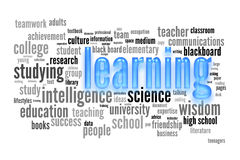 Learning concept. Learning studyng and education concept word cloud Royalty Free Stock Photos
