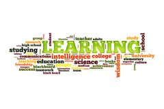 Learning concept. Learning studyng and education concept word cloud Royalty Free Stock Photography