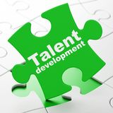 Learning concept: Talent Development on puzzle background Royalty Free Stock Photo