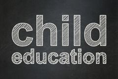 Learning concept: Child Education on chalkboard background Stock Images