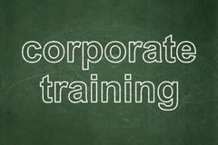 Learning concept: Corporate Training on chalkboard background. Learning concept: text Corporate Training on Green chalkboard background Stock Images