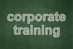 Learning concept: Corporate Training on chalkboard background. Learning concept: text Corporate Training on Green chalkboard background Stock Image