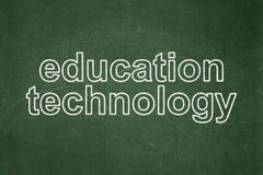 Learning concept: Education Technology on chalkboard background. Learning concept: text Education Technology on Green chalkboard background Stock Image