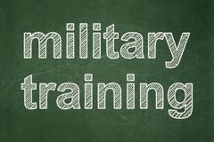 Learning concept: Military Training on chalkboard background. Learning concept: text Military Training on Green chalkboard background Stock Photos
