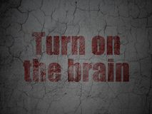 Learning concept: Turn On The Brain on grunge wall background Stock Image