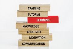 Learning Concept with Wooden Block Stock Images