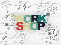 Learning concept: Workshop on wall background Stock Photography