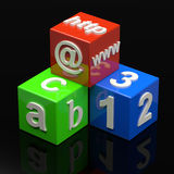 Learning Cubes Stock Images