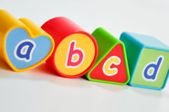 Learning cubes Stock Photo