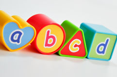 Learning cubes Royalty Free Stock Images