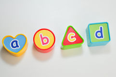 Learning cubes Stock Image