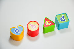 Learning cubes Royalty Free Stock Photo
