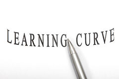 Learning curve Royalty Free Stock Image