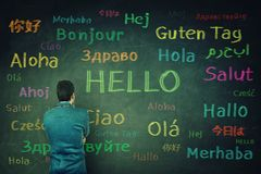 Learning different languages Stock Images