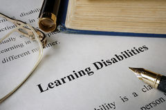 Learning disabilities. Stock Photo