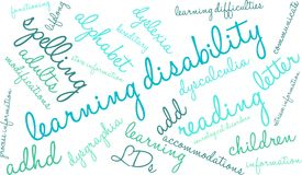 Learning Disability Word Cloud Stock Image