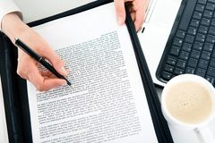 Learning documents Stock Image