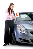 Learning driver Royalty Free Stock Photo
