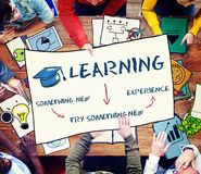 Learning Education Academics Concept. Learning Education Academics Experience Concept Royalty Free Stock Photography
