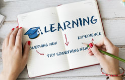 Learning Education Academics Concept. Learning Knowledge Education Experience Academics Royalty Free Stock Image
