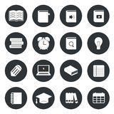Learning education circle icons set. Vector illustration stock illustration