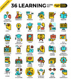 Learning, education concept, icons Royalty Free Stock Photography