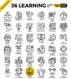 Learning, education concept, icons Stock Image
