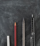 Learning / Education / Growth Success Concept - Chalk to Luxury Pen Stock Photography