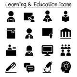 Learning & Education icon set. Learning & Education icon set Vector illustration Graphic design Royalty Free Stock Image