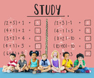 Learning Education Mathematics Calculation Teaching Concept royalty free stock photos