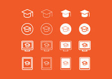 Learning and eLearning icon set Stock Photo