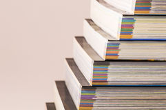 Learning elevation. Staireway made of colored books Stock Photography
