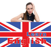 Learning english concept Royalty Free Stock Photo