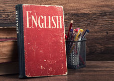 Learning english concept Royalty Free Stock Photography