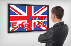 Learning english concept Stock Photos