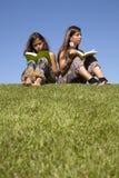 Learning and enjoying nature Stock Photo