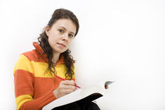 Learning for an exam. Student learning for an exam Royalty Free Stock Images