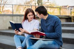 Learning for exam royalty free stock photos