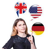 Learning of foreign languages concept. Royalty Free Stock Image