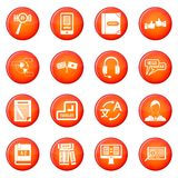 Learning foreign languages icons vector set Stock Photos