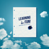 Learning is fun. Motivating poster. Royalty Free Stock Photo