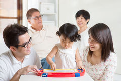 Learning fun with parents Stock Images