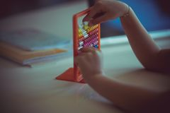 Learning through the game royalty free stock photos