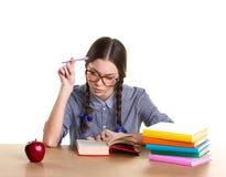 Learning girl Stock Photo