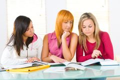 Learning girls Royalty Free Stock Image