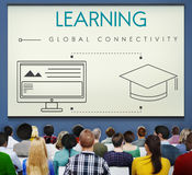 Learning Global Connectivity Technology Graphic Concept Royalty Free Stock Photo