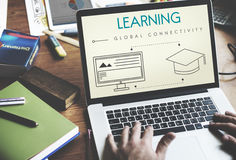Learning Global Connectivity Technology Graphic Concept Royalty Free Stock Photography