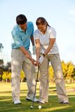 Learning golf Stock Photo